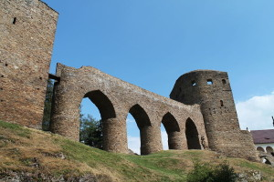 Burg Velhartice - Steinbrücke