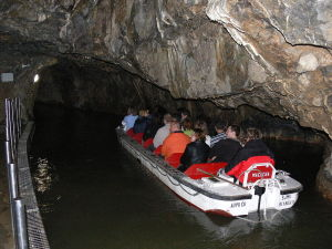 Bootsfahrt auf Punkva