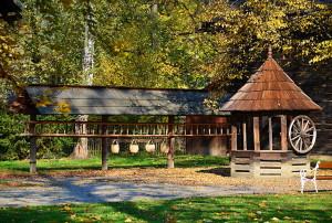 Holzstädtchen im Freilichtmuseum Rožnov