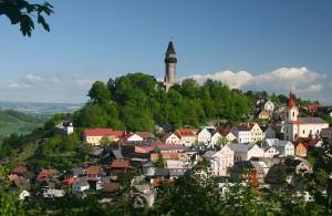 Stadt Štramberk und der Turm Trúba