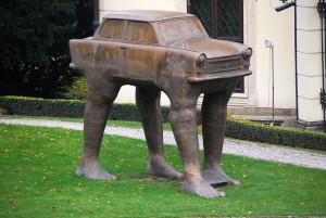 Trabi-Skulptur