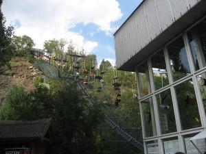 Seilbahn im Zoo Prag
